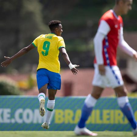 Cauê comemora gol que deu título à seleção brasileira sub-20 - Lucas Figueiredo/CBF
