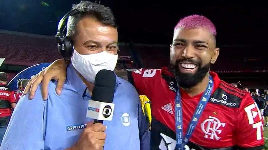 Gabigol pede desculpa para Eric Farias após xingamentos em gol anulado do Internacional - Transmissão TV Globo