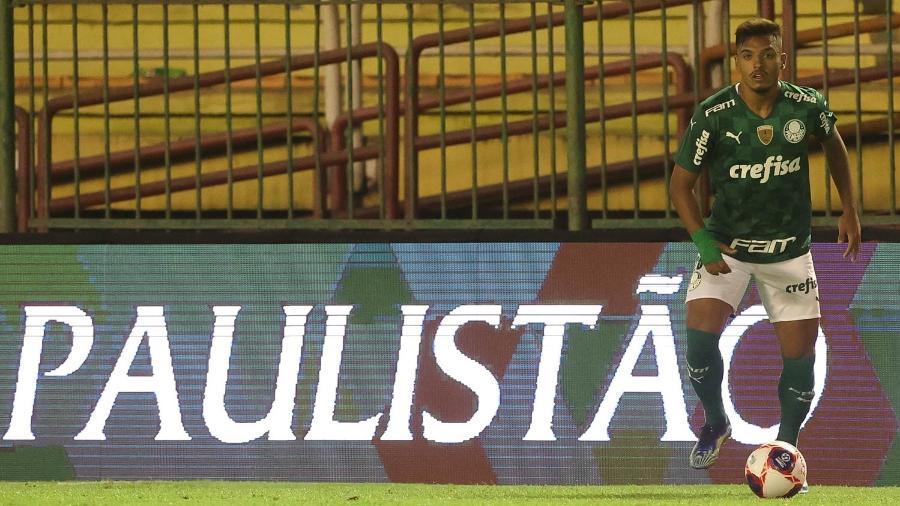 Gabriel Menino durante a partida entre São Bento e Palmeiras em Volta Redonda (RJ), pelo Paulistão - Cesar Greco/Palmeiras