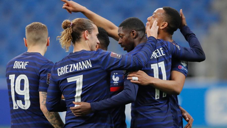 Dembélé foi cortado da seleção francesa para o resto da Euro - Vasily Fedosenko/Reuters
