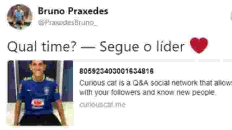 Praxedes utilizou frase em referência ao Flamengo em seus tempos de Fluminense - Reprodução/Twitter - Reprodução/Twitter