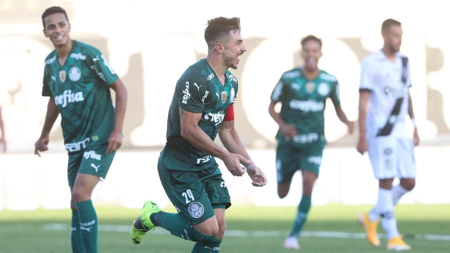 Willian, do Palmeiras, comemora gol diante da Ponte Preta - Cesar Greco/Palmeiras