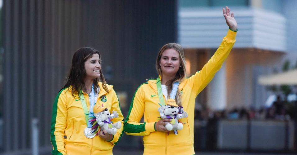 Martine Grael e Kahena Kunze conquistou medalha de prata na prova 49erFX da vela