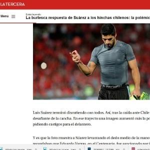 Jornais do Chile criticaram Suárez em virtude de gesto obsceno