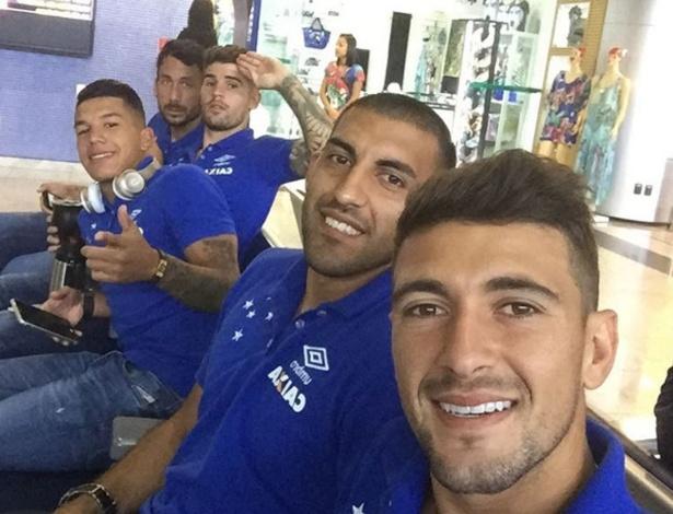 Gringos do Cruzeiro estão sempre juntos. Dentro e fora do clube