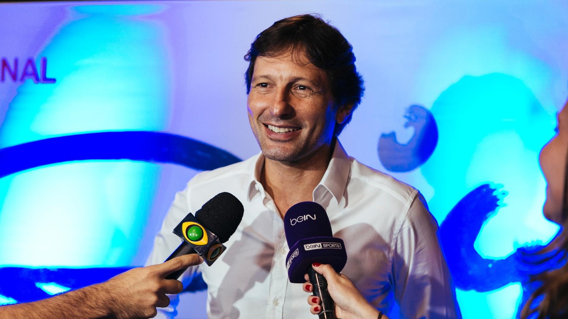 Leonardo concede entrevista durante o lançamento do Canal Zico 10 no YouTube