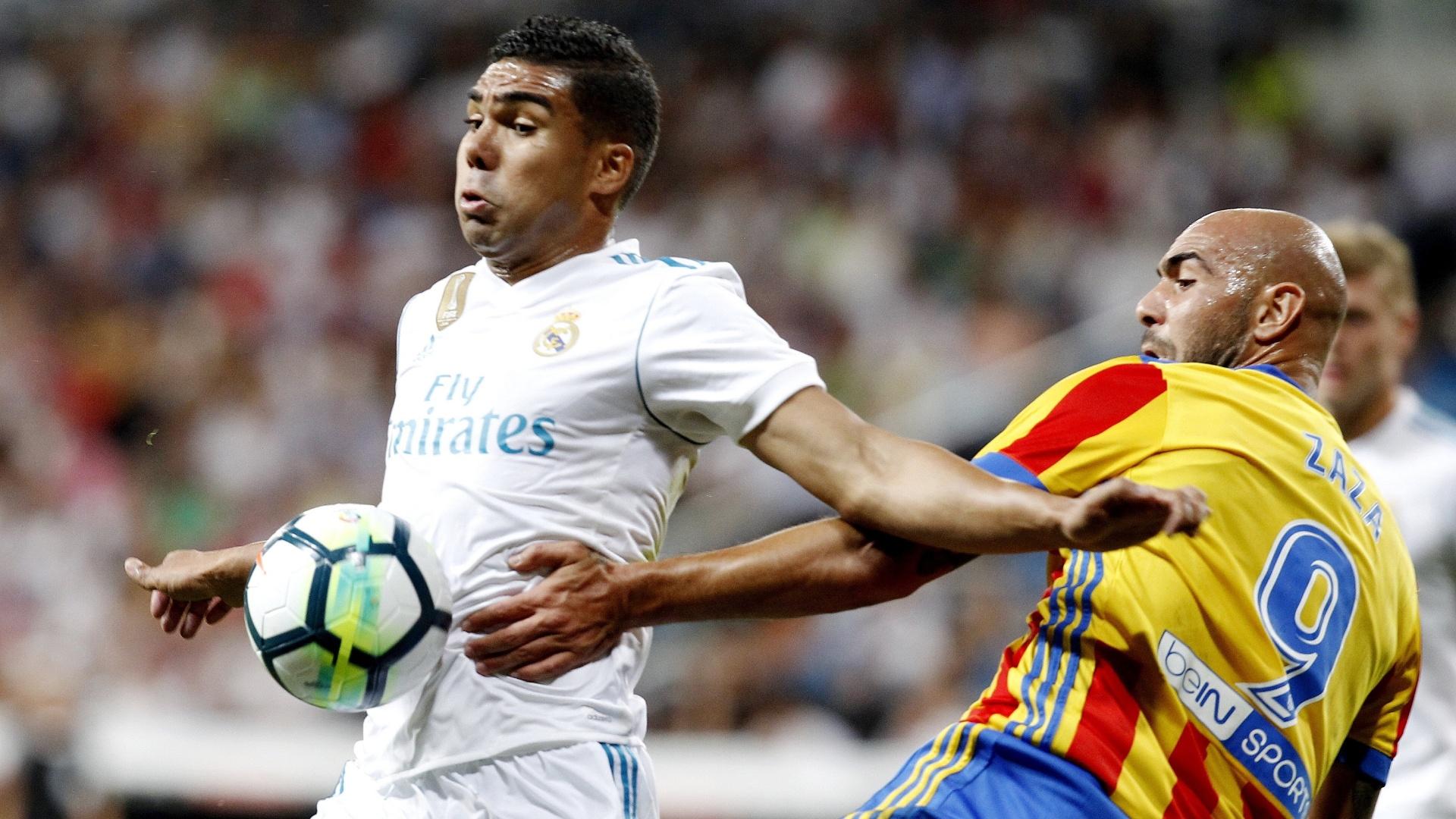 Casemiro atuou na zaga contra o Valencia