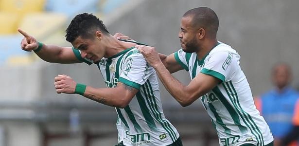Egídio foi autor do gol da vitória do Palmeiras sobre o Fluminense