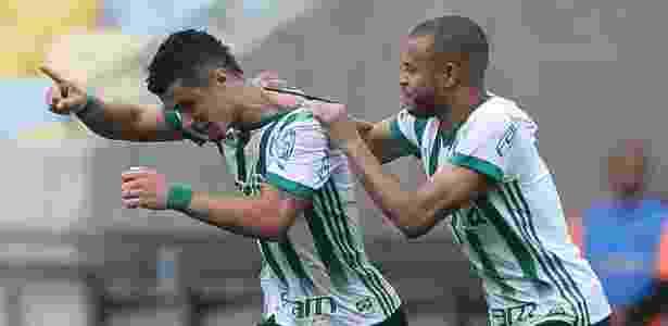 Egídio foi autor do gol da vitória do Palmeiras sobre o Fluminense - Divulgação/Palmeiras