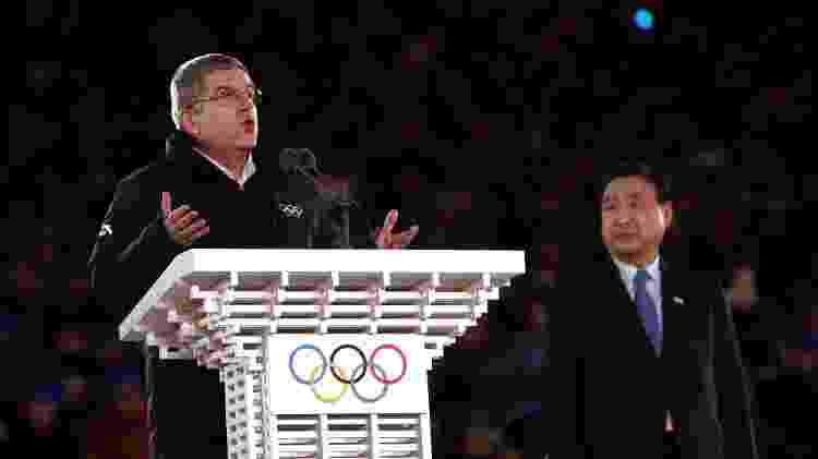 Thomas Bach discursa durante encerramento dos Jogos de Inverno - JOHN SIBLEY/REUTERS - JOHN SIBLEY/REUTERS