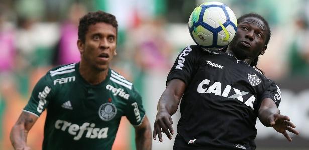 Marcos Rocha em ação contra o Atlético-MG; lateral está no Palmeiras desde janeiro - Paulo Whitaker/Reuters