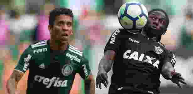 Marcos Rocha, do Palmeiras, marca Yimmi Chara, do Atlético-MG - Paulo Whitaker/Reuters