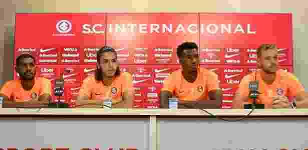 Ramon, Nonato, Roberto e Pedro Lucas, jogadores jovens do Internacional - Ricardo Duarte/Inter