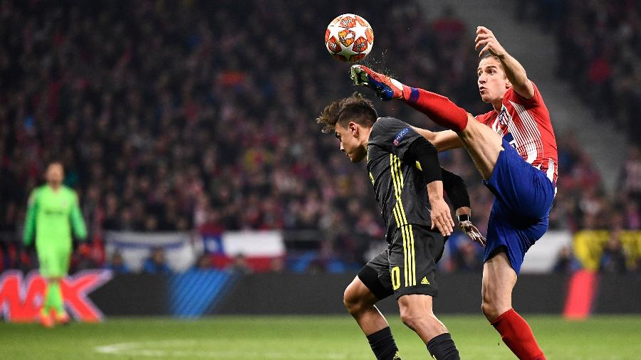 Filipe Luís, durante partida entre Atlético de Madri e Juventus - PIERRE-PHILIPPE MARCOU / AFP
