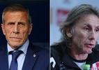 Tabárez e Gareca fazem duelo raiz de apaixonados por futebol sul-americano - Montagem sobre Divulgação