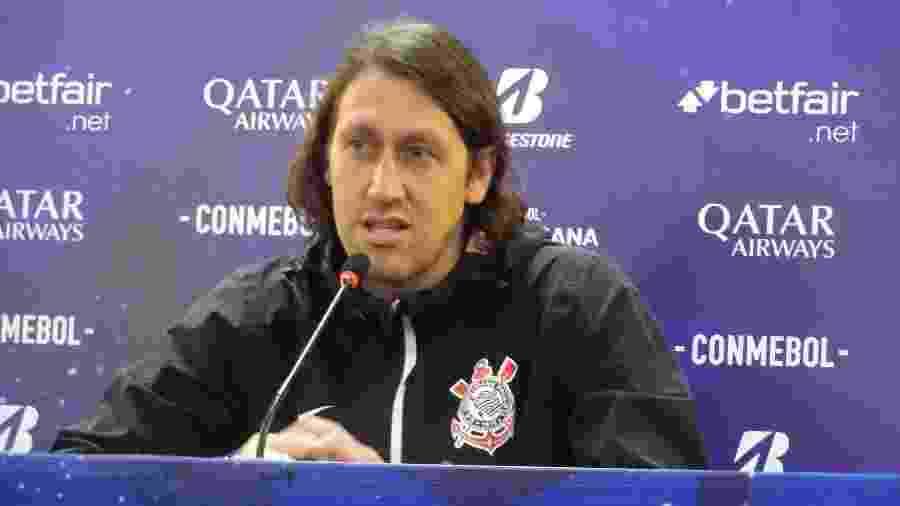 Cássio, goleiro do Corinthians, durante entrevista coletiva hoje à tarde, no CT Joaquim Grava - Gabriel Carneiro/UOL Esporte