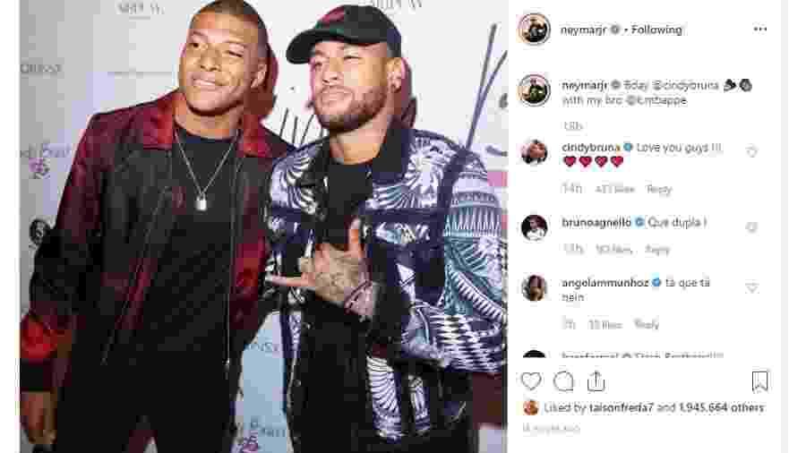 Neymar e Mbappé marcam presença em festa  - Reprodução