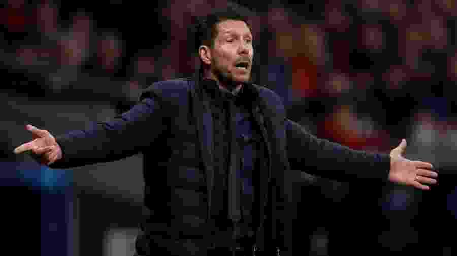 Técnico Diego Simeone, do Atlético de Madri - Soccrates Images / Colaborador