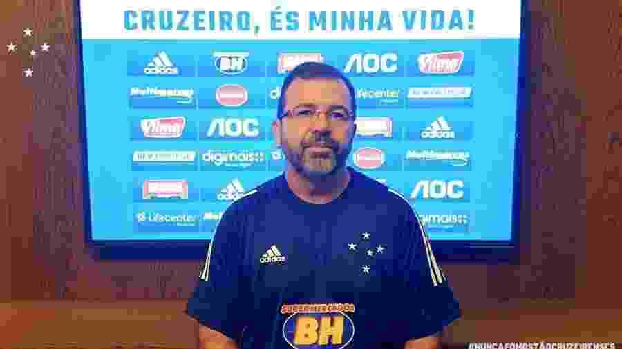 Técnico Enderson Moreira foi oficialmente apresentado por videoconferência no Cruzeiro - Cruzeiro/Divulgação