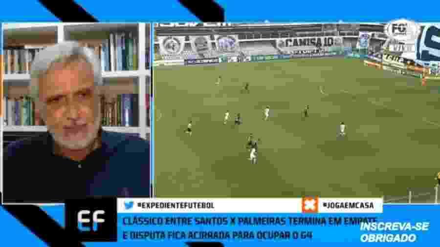 """Sormani vê empate melhor para Palmeiras e diz que Santos perdeu """"oportunidade de ouro"""" - Reprodução/Fox Sports"""