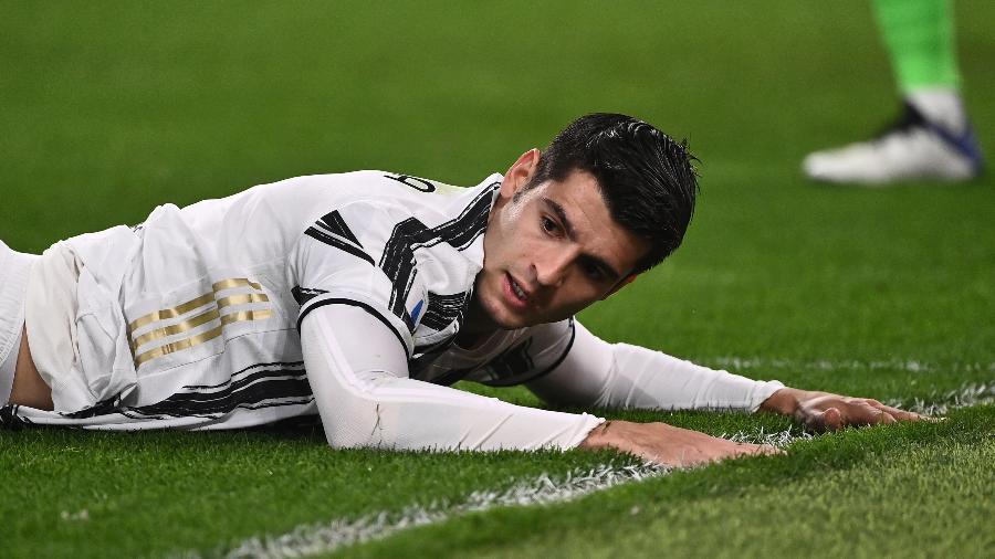 Morata desmaiou no vestiário durante o último duelo da Juventus; ele tem, segundo o Calciomercato, citomegalovírus - Marco BERTORELLO / AFP