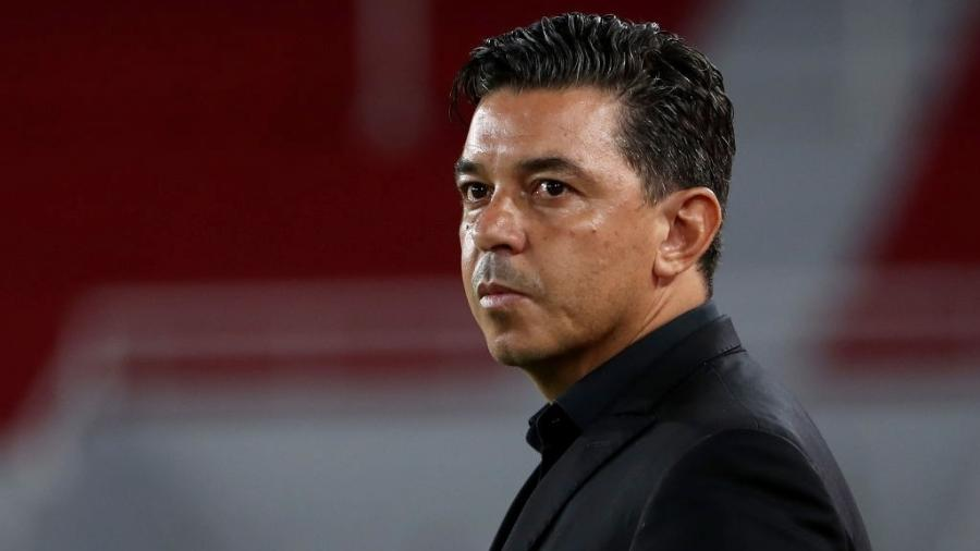 Técnico argentino é ídolo do River Plate e, até o momento, não há indícios de saída - Juan I. Roncoroni ? Pool/Getty Images