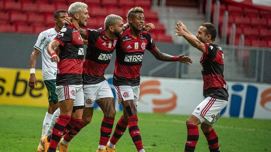 Arrascaeta, Gabigol, Bruno Henrique e Everton Ribeiro foram o quarteto ofensivo do Flamengo - Alexandre Vidal/Flamengo