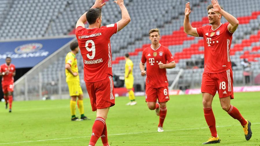 Lewandowski chegou a 27 gols no Campeonato Alemão - Kerston Joensson/AFP