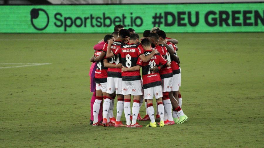 Jogadores do Flamengo no jogo contra o ABC, pela Copa do Brasil - Guilherme Drovas/AGIF