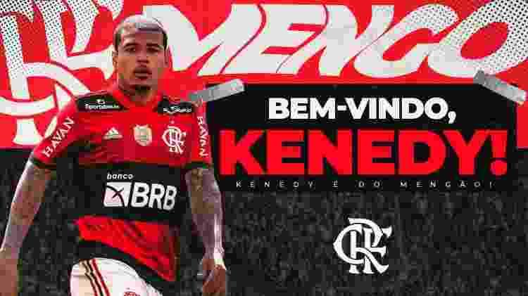 Kenedy foi anunciado como reforço do Flamengo - Reprodução - Reprodução