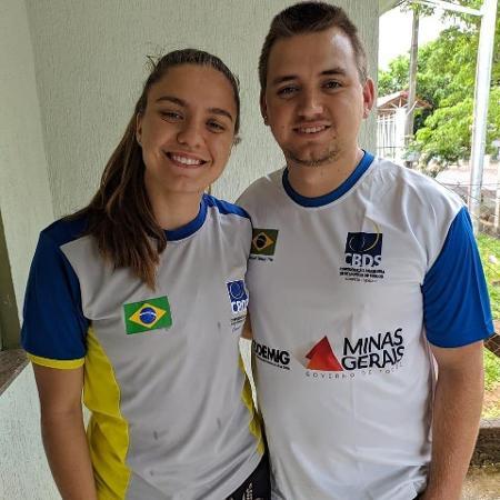 Os irmãos Stefany e Jean Krebs compartilham do amor pelo futebol - Arquivo pessoal/Reprodução