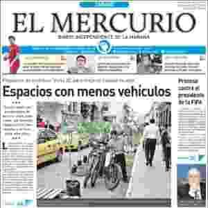 """El Mercurio (Equador): """"Processo contra o presidente da Fifa"""" - Reprodução"""