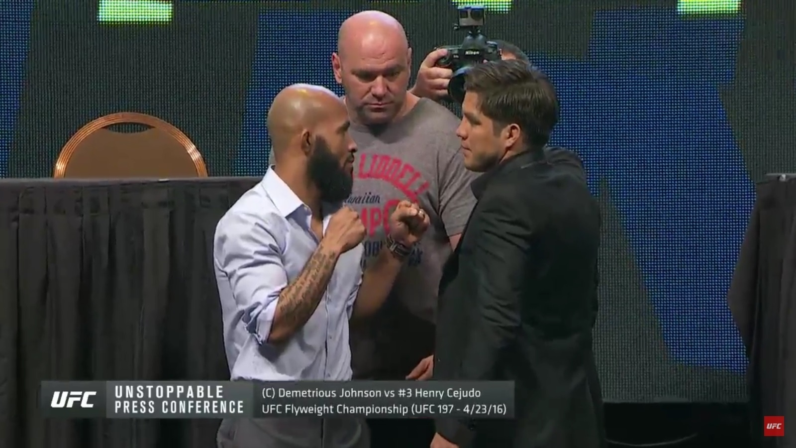 Demetrious Johnson e Henry Cejudo se encaram em evento no UFC
