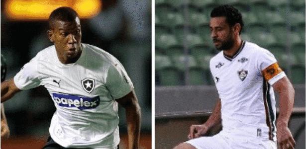 Ribamar (e) e Fred (d) travam duelo dos carrascos no clássico carioca - Sites oficiais de Botafogo e Flu