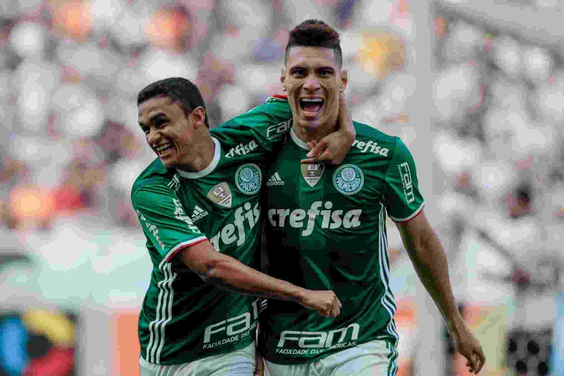 Moisés abre o placar para o Palmeiras na Arena Corinthians - Marcello Zambrana/AGIF