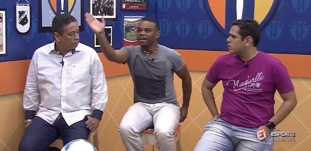 Carlinhos Bala durante programa do canal Esporte Interativo