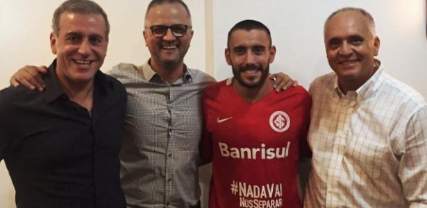 Alan Ruschel definiu na noite da última sexta-feira a renovação de contrato - Divulgação/SC Internacional