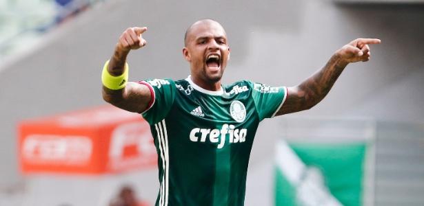 O volante Felipe Melo durante um jogo do Palmeiras