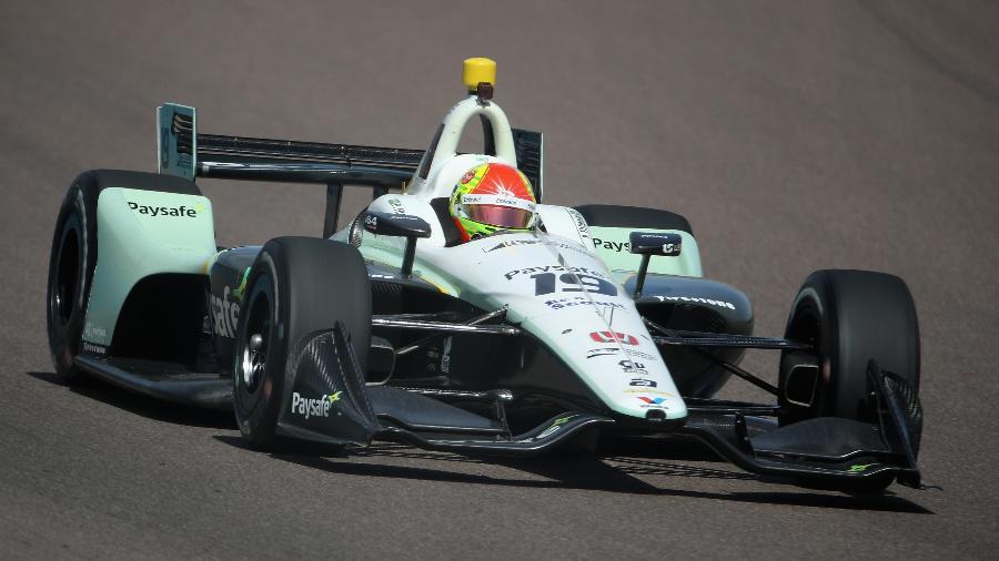 Pietro Fittipaldi durante treino do GP de Phoenix na Fórmula Indy em 2018; campeonato está de volta à Band - Christian Petersen/STF
