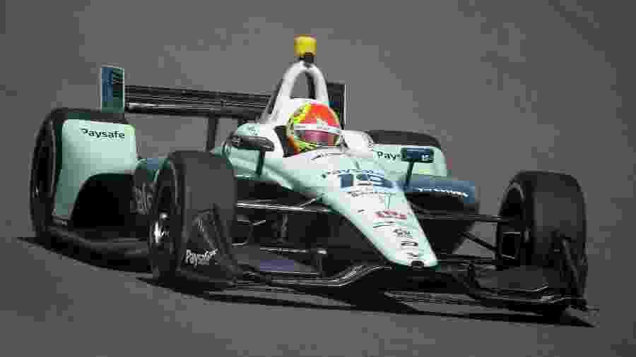 Pietro Fittipaldi durante treino do GP de Phoenix na Fórmula Indy - Christian Petersen/STF