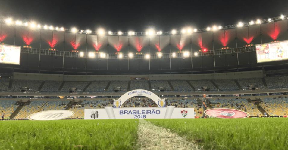 Maracanã pronto para receber Fluminense x Santos, partida válida pelo Campeonato Brasileiro