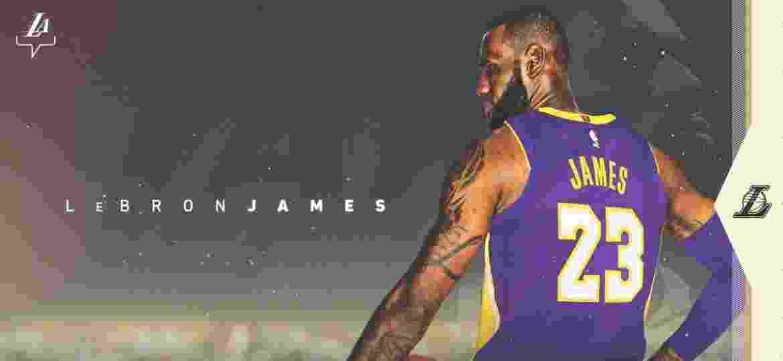 """LeBron James cuida de investimentos no entretenimento e tem LA como """"casa ideal"""" - Divulgação/Twitter/Los Angeles Lakers"""