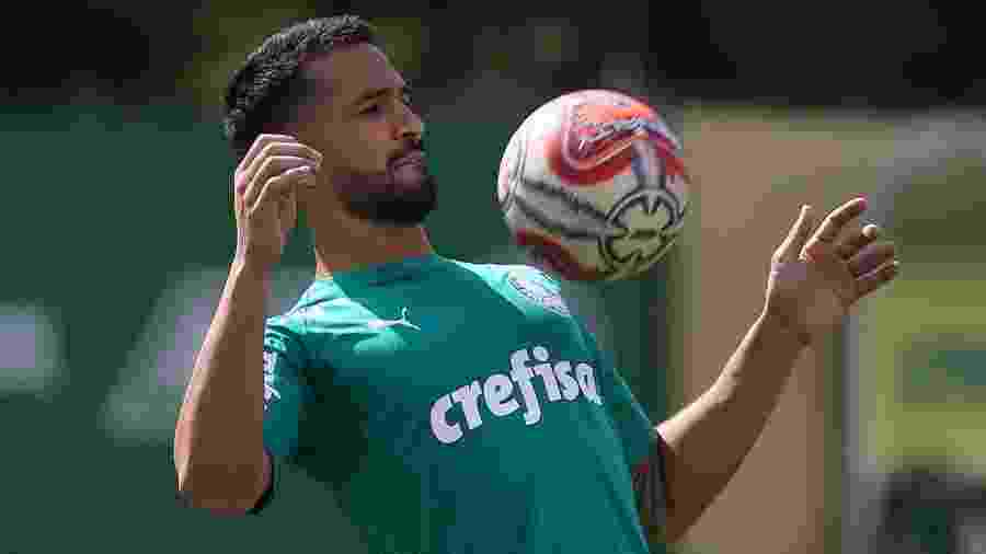 Luan foi titular nos dois jogos com Mano Menezes, mas enfrenta concorrência de Gómez - Cesar Greco/SE Palmeiras