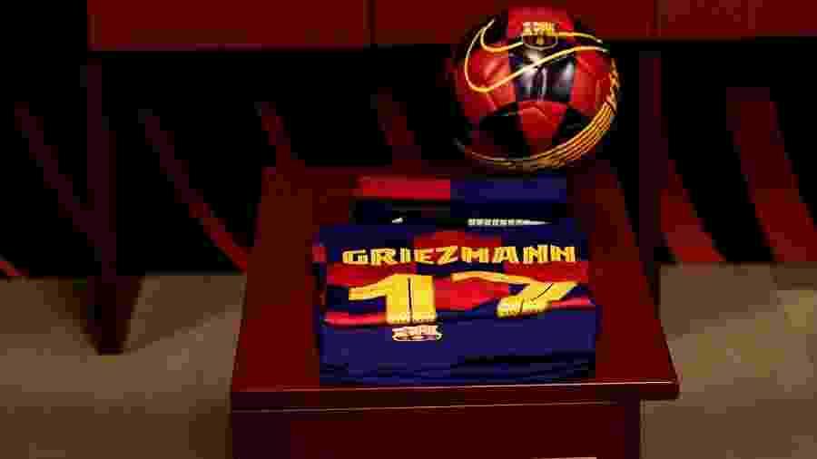 Griezmann ganha camisa 17 no Barcelona - Reprodução