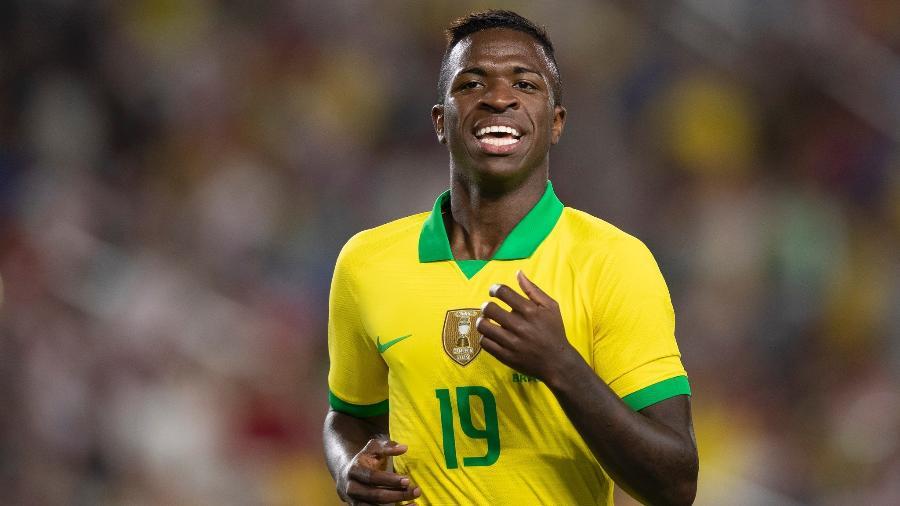 Vinícius Júnior estreou pela seleção brasileira em amistoso contra o Peru nos EUA - Lucas Figueiredo/CBF
