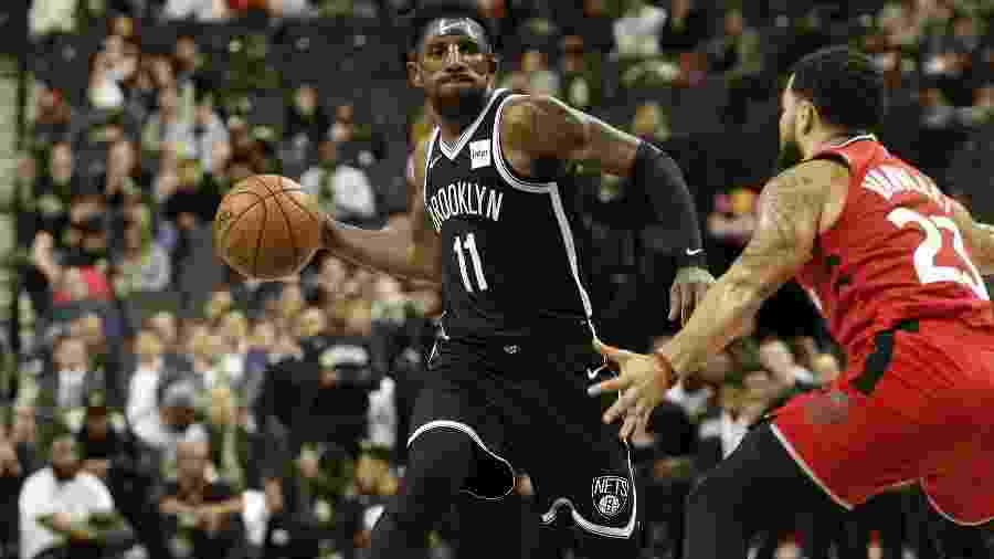 Kyrie Irving, armador do Brooklyn Nets - Nicole Sweet-USA TODAY Sports