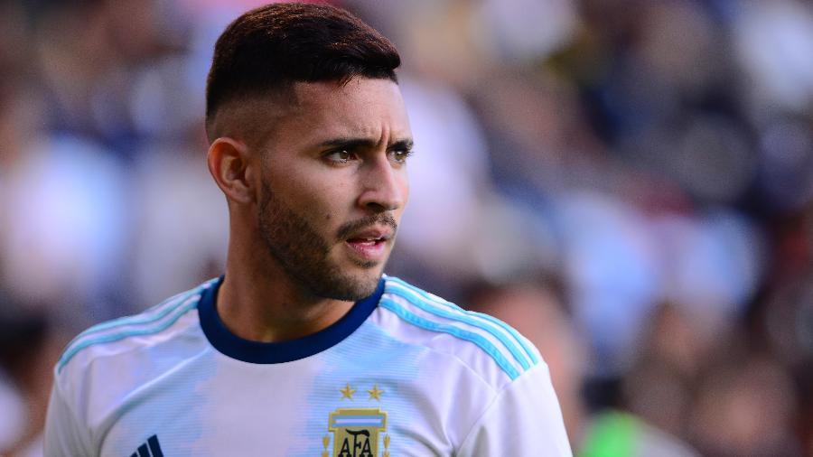 Nahuel Bustos, atacante do Talleres e da seleção pré-olímpica da Argentina - Jaime Lopez/Jam Media/Getty Images