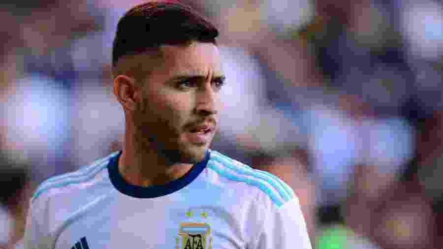 Bustos, alvo do São Paulo no mercado da bola, é atacante do Talleres e da seleção olímpica da Argentina - Jaime Lopez/Jam Media/Getty Images