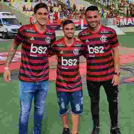 Pedro, Michael e Thiago Maia apresentados para a torcida no Maracanã - Reprodução @maracana