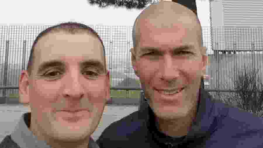 Zinedine Zidane e Ignacio Fernández após acidente de carro - Reprodução / Twitter